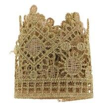 1 Yard Golden Embroidered Lace Trims DIY Crafts Applique for Dress Bag Decor