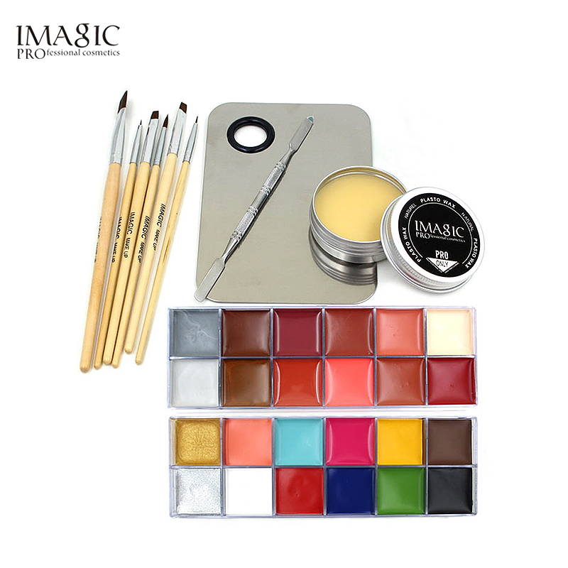 IMAGIC Topcoat Halloween Cosmetics Non-toxic Water-based Paint Christmas Party Fancy Devil Fan Body Paint Primer Combination