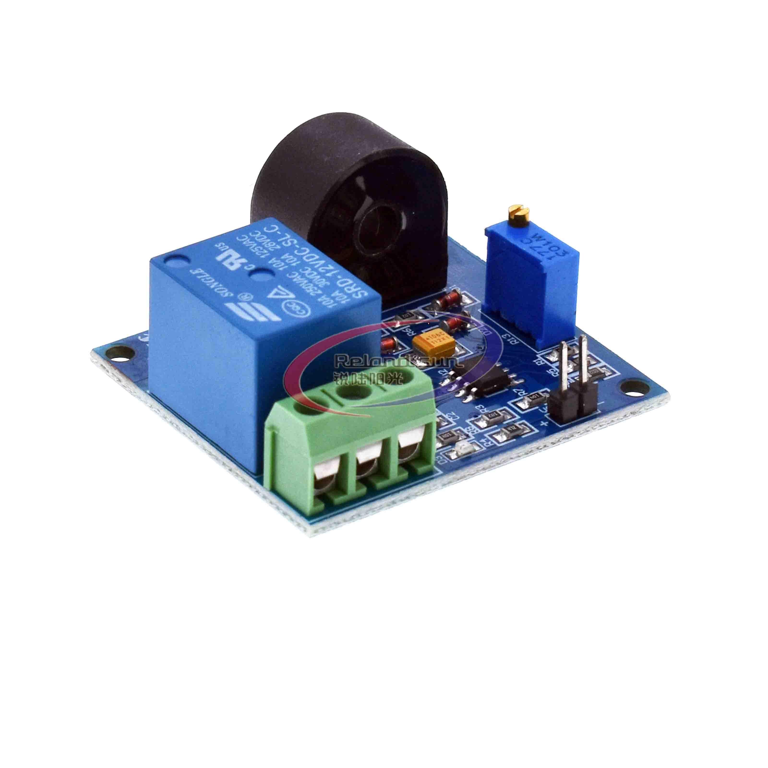 5a módulo de relé de proteção de sobrecorrente ac placa de detecção de corrente sensor 24 v/12 v/5 v relé