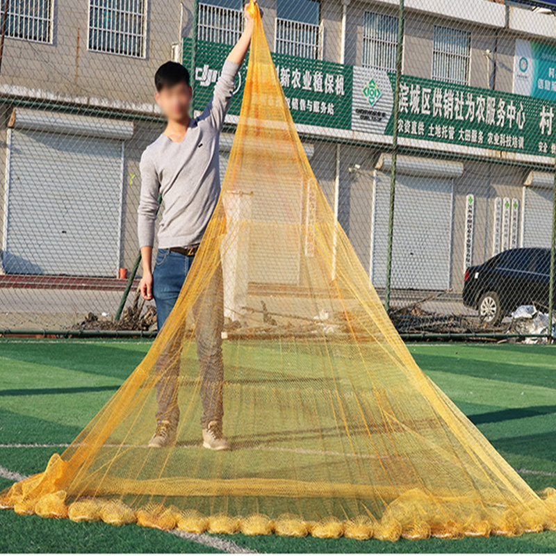 Fishnet Play Fishnet Traditional Tire Old-Fashioned Net Casting Catch Fishnet Nylon Mesh Seine Hand Net