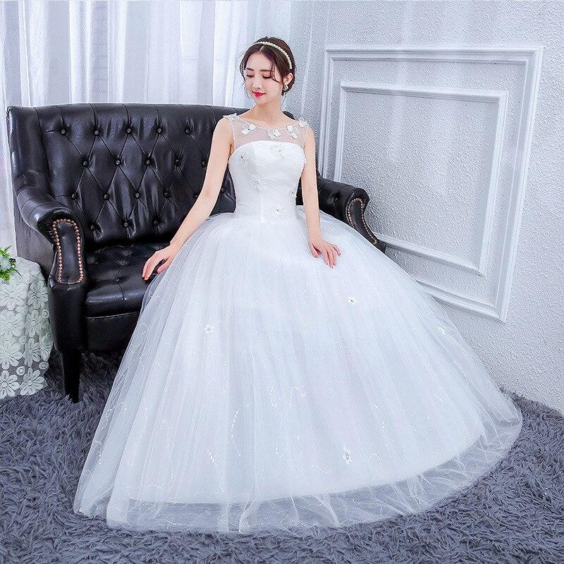 The Bride Married 2020 New Sen Is A Word Shoulder Princess That Wipe A Bosom Trailing Luxury Show Thin Female Big Yards