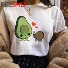 Avocado Kawaii Funny Cartoon T Shirt Women Cute Anime Oversized Ladies T-shirt Small Fresh Tshirt Gr