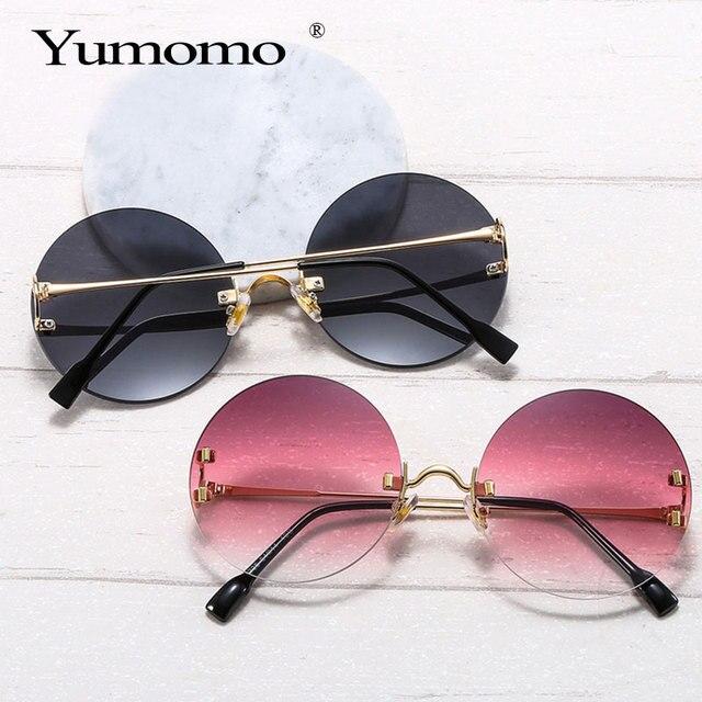 Vintage Round Sunglasses Women Ocean Color Lens Mirror Sun Glasses Female Brand Design Metal Frame Circle Glasses Modis Oculos 6