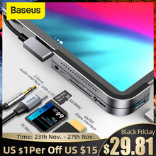 Baseus USB C HUB dla ipada Pro typ C USB 3.0 HUB HDMI 3.5mm gniazdo PD Port USB Splitter Adapter USB type-c HUB dla MacBook Pro