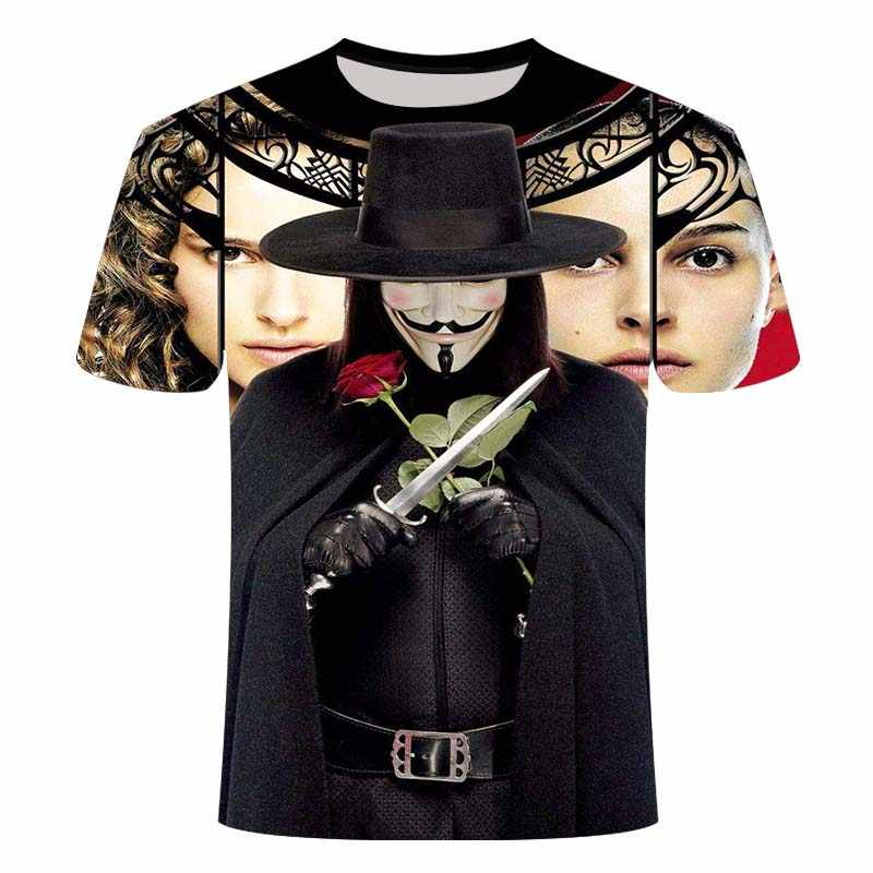 2020 nuovi uomini t shirt Sketch il clown 3D T Stampato Da Uomo Burlone Viso Casual O-Collo Uomo tshirt Pagliaccio maniche Corte scherzo top