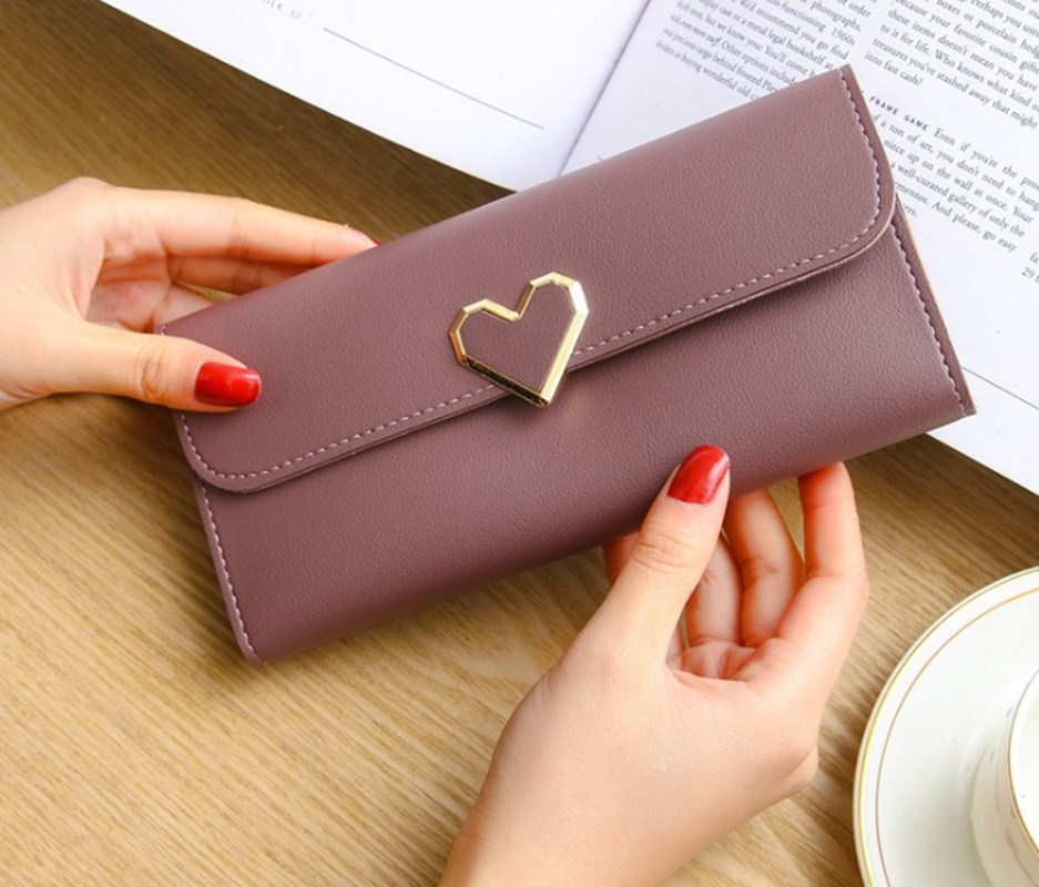 Women Wallets Purses Love Heart  Long Wallets For Ladies Girl Money  Pocket Card Holder Female Wallets Phone Clutch Bag 2019 New