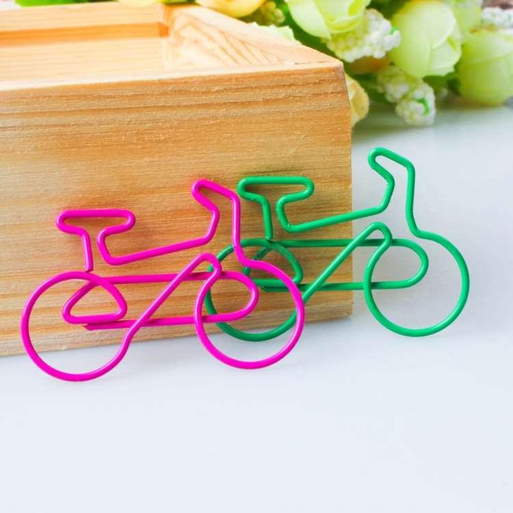 10pcs Bicycle Paper Clip Paper Clip Creative Cute Bookmark Paper Clip Custom Paper Clip Office Clip