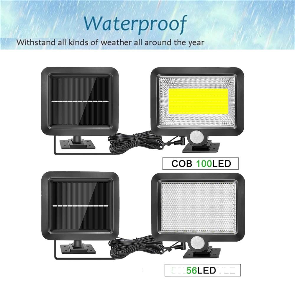 LED Solar Power PIR Motion Sensor Wall Light 56/30 LEDs Outdoor Waterproof Energy Saving Street Garden Security Lamp Split Mount