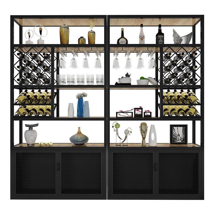 240cmBake Painting Iron Wine Rack Cabinet Display Shelf Bar Globe For Home Bar Furniture Metal Frame Bottles Wine Rack Holders S