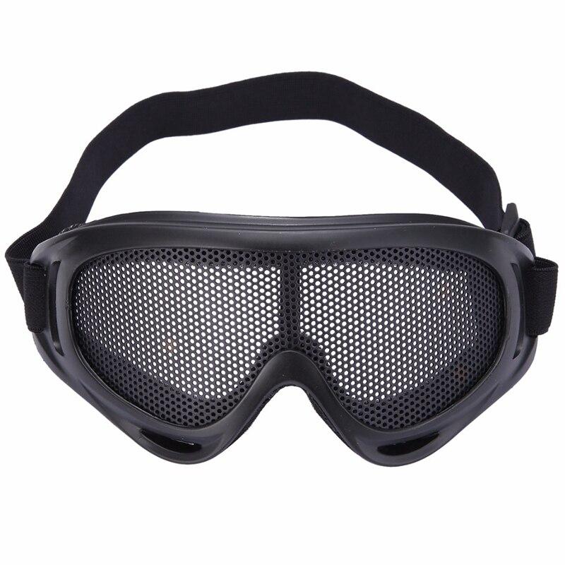 Ams-наружные защитные очки для глаз, удобные защитные очки с металлической сеткой