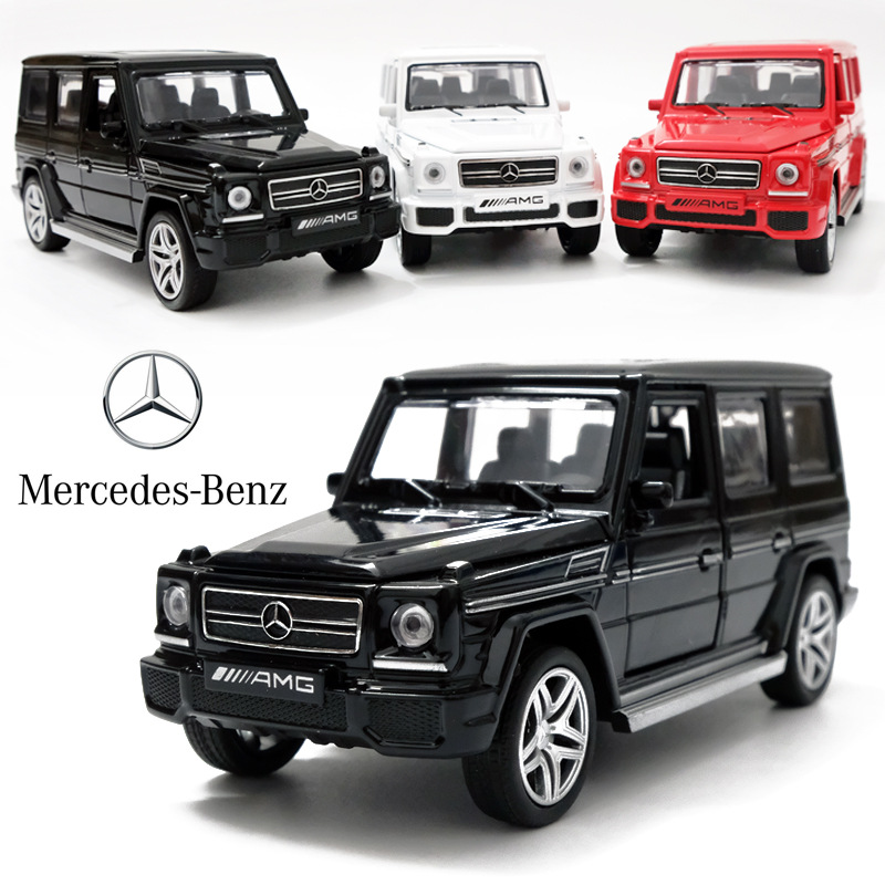 1:32 AMG G65 Alloy Pull Back Model Car Model Toy Sound Light Pull Back Toy Car For G65 SUV AMG Toys For Boy Gift Collection Gift