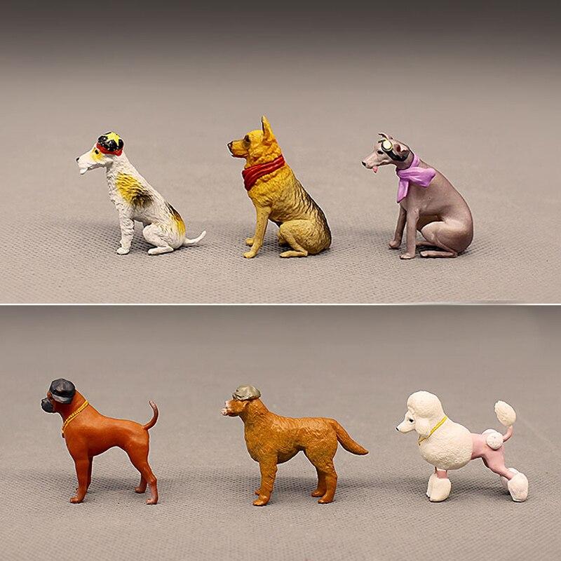 10x Miniature Bonsai DIY Craft Terrarium Figurine Décoration de chien blanc