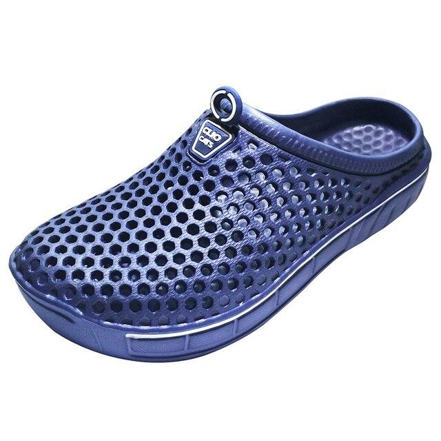 Фото туфли сабо для сада мужчин быстросохнущие летние пляжные тапки