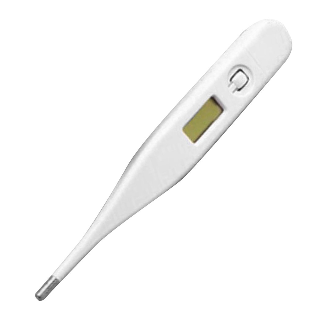 Digital Lcd Body Thermometer Abs Square Head Waterproof High Precision Baby Child Body Temperature Measurement 1 Piece