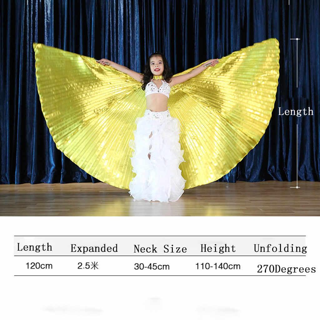 2019 Belly Dance Isis ปีก Sticks สำหรับเด็ก Belly Dance เครื่องแต่งกาย Angel ปีกสูง Quality25 Herramienta De Escenario