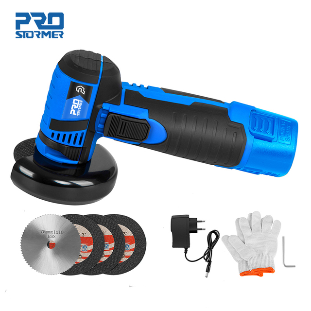 12V Mini Brushless Angle Grinder Cordless Polishing Grinding Machine 2.0mAh 19500RPM Electric Power Tools for home by PROSTORMER 1
