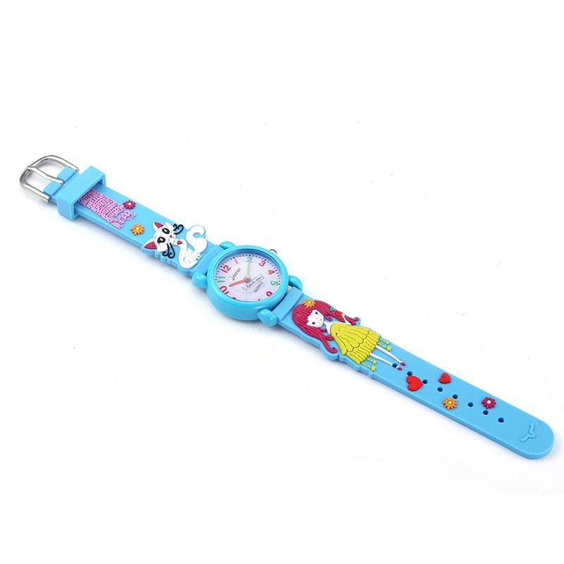 TurnFinger водонепроницаемый детский% 27s кварц часы 3D мультфильм котенок и маленькая девочка узор мода роскошь горячая распродажа праздник подарок