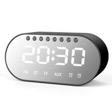SOONHUA беспроводной BT динамик многофункциональный FM радио зеркальный экран цифровые часы сабвуфер USB зарядка динамик