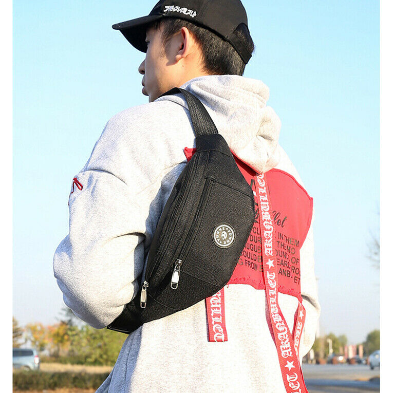 4 Colors Men Women Fashion Cycling Waist Belt Bag Waist Packs Casual Travel Hip Purse Sports Wallet