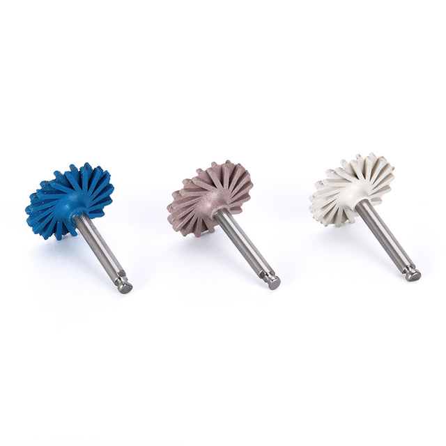 6pcs/set Dental Composite Resin Polishing Disc Kit Spiral Flex Brush Burs Diamond System RA disc 14mm wheel 3