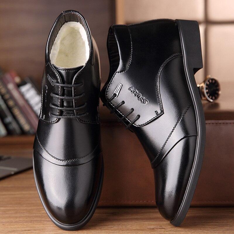 REETENE 2019 New Men'S Boots Winter Keep-Warm Men'S Boots Fashion Comfortable Men'S Winter Shoes Plus Size With Fur Men'S Shoes