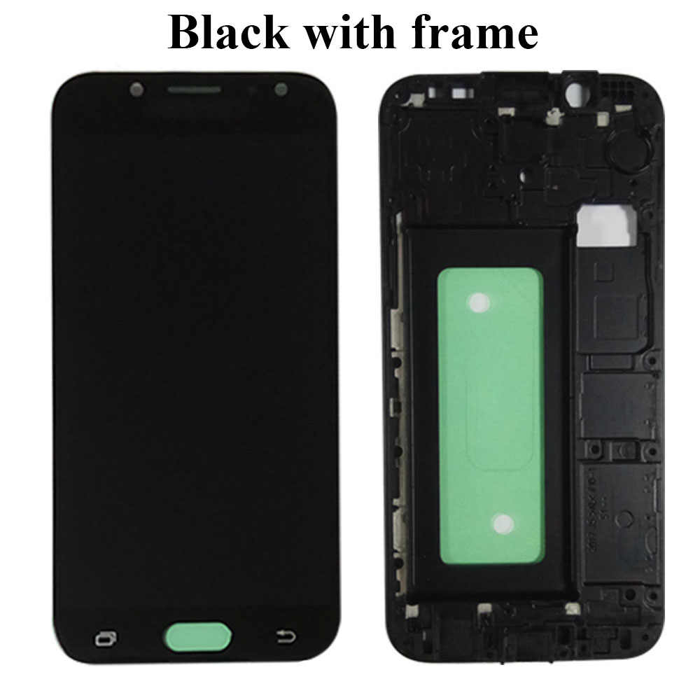 J530 LCD para Samsung Galaxy J5 pro 2017 J530Y J530F pantalla LCD MONTAJE DE digitalizador con pantalla táctil con marco puede piezas ajustables