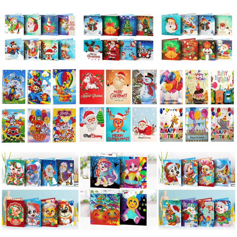 AZQSD DIY Алмазная картина мозаика поздравительная открытка специальная форма рождественские открытки подарок на день рождения 2019 полный комп...