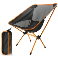 ABSF Outdoor Folding Chair Ultralight Portable Fishing Chair Beach Chair Camping Chair Moon Chair
