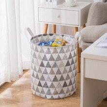 Cesta de la colada sucia redonda plegable cesto de almacenamiento de lavandería para juguetes de bebé ropa sucia