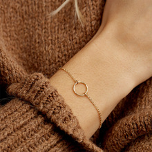 316L Stainless Steel Bracelet European and American Fashion Simple Hollow Round Bracelet Gold Jewelry europe and the united states simple fashion gold silver hollow six angle star bracelet hollow geometric bracelet female girl jew