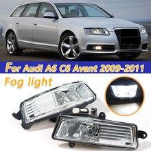 цена на COOYIDOM Car LED Fog Light Lamp For Audi A6 C6 Avant 2009 2010 2011 Car-Styling Front Bumper auto parts