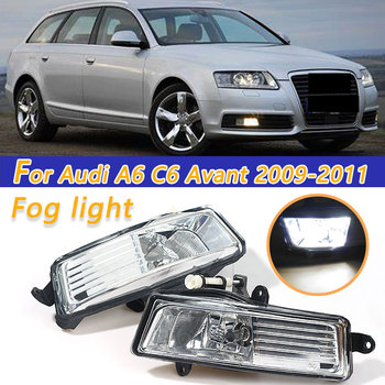 COOYIDOM Car LED Fog Light Lamp For Audi A6 C6 Avant 2009 2010 2011 Car-Styling Front Bumper auto parts image