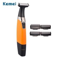 Kemei máquina de afeitar eléctrica recargable para hombre, Afeitadora eléctrica para Barba, afeitadora corporal para el cuidado de la cara