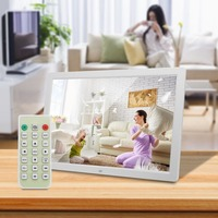 17 Inch Digital Photo Frame Electronic Picture Frame 1440*900 1080P Alarm Clock MP3 MP4 Remote Control