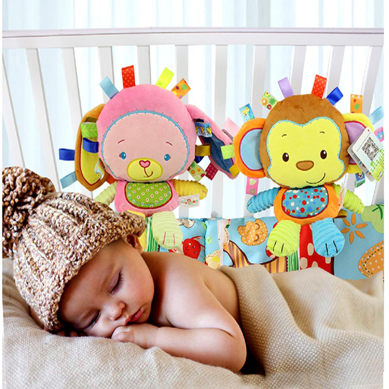 Baby Plush Stuffed Toys Cartoon Animal Soothe Appease Toys Appease Doll For Newborn Soft Comforting Sleeping Toy Gift