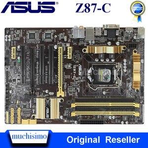 Asus Z87-C carte mère Intel Z87 LGA1150 DDR3 32GB PCI-E 3.0 ordinateur de bureau d'origine Asus Z87 carte mère DDR3 1150 Z87-C ATX