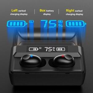 Image 3 - DACOM T8 Bluetooth TWS Tai Nghe Nhét Tai Không Dây Với Microphon, Chuyển Đổi Bài Hát, Đèn Sạc LED Màn Hình Dành Cho iPhone Samsung