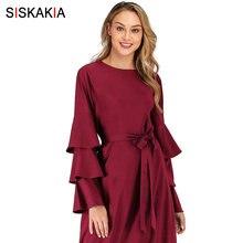 Siskakia Maxi Dresses for Women Autumn 2
