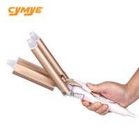 Cymye professionelle 110-220V Haar Curling Eisen keramik triple barrel haar curler