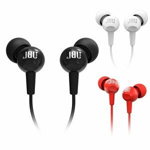 Image 5 - Nowy oryginalny JBL C100Si 3.5mm przewodowe słuchawki douszne Stereo głęboki bas muzyczny zestaw słuchawkowy sport Running słuchawki douszne z mikrofonem