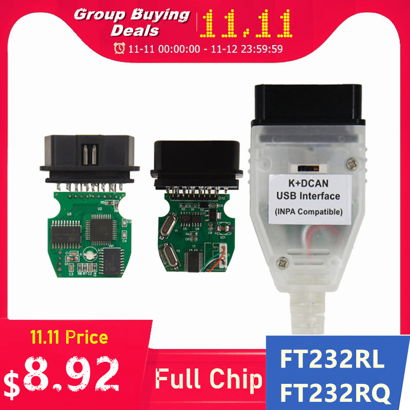 Best Quality Full Chip For BMW INPA K DCAN K CAN FT232RL FT232RQ USB Diagnostic Interface INPA Compatible For BMW Series