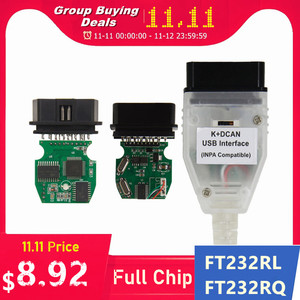 Image 1 - Best Quality Full Chip For BMW INPA K DCAN K+CAN FT232RL FT232RQ USB Diagnostic Interface INPA Compatible For BMW Series