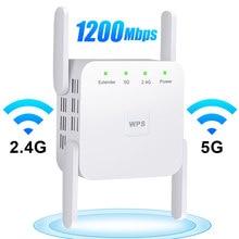 5g wifi repetidor sem fio wi-fi amplificador de sinal 1200 mbps wi-fi longa distância impulsionador casa wi fi extensor rede internet extensor