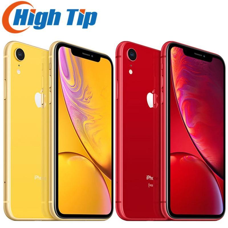 Разблокированный Apple iPhone XR xr ОЗУ 3GB ПЗУ 64GB/128GB /256G мобильный телефон 4 аппарат не привязан к оператору сотовой связи 6,1