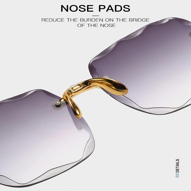 New Frameless Sunglasses Anti-UV Sunglasses