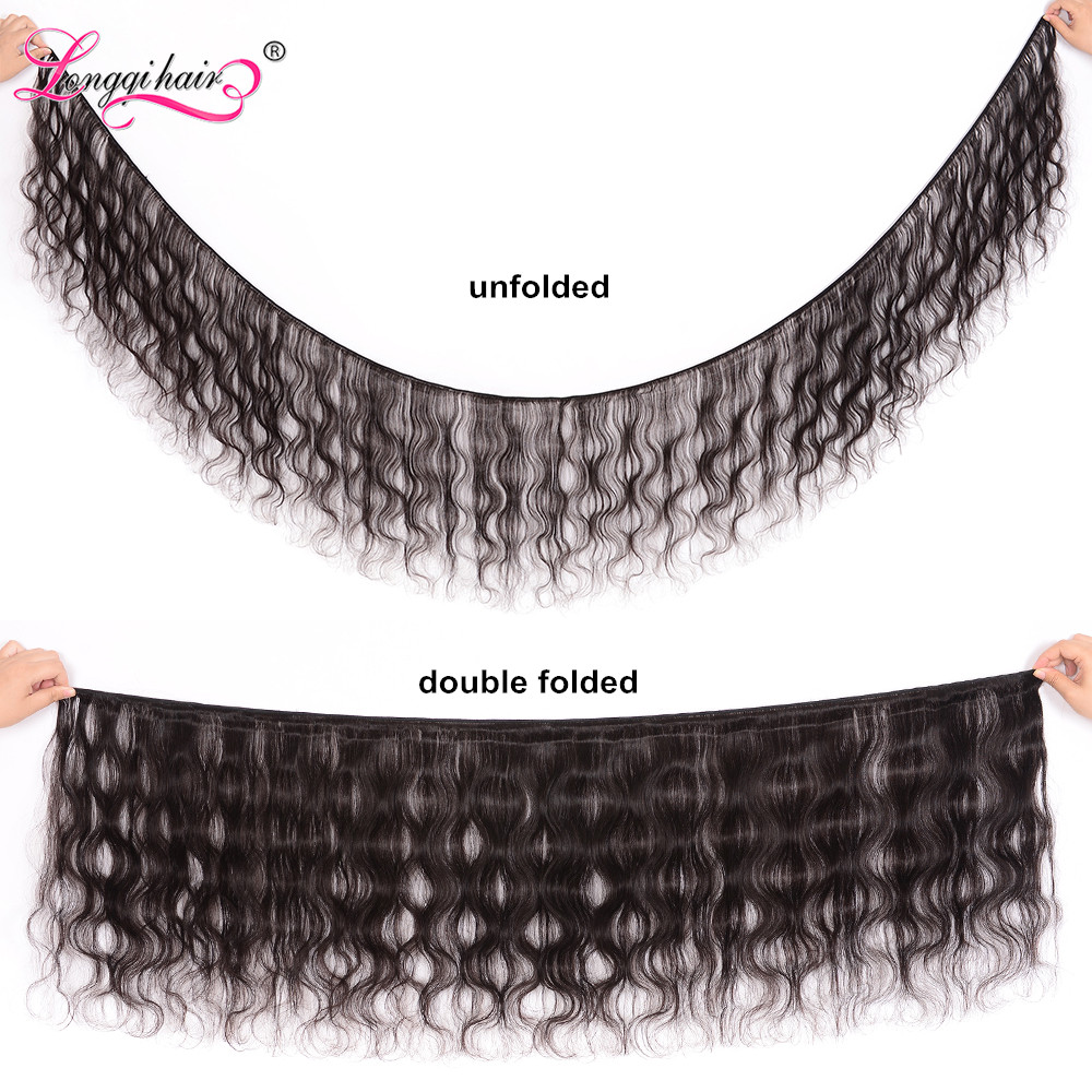 Image 2 - Longqi Body Wave Bundles with Closure Malaysian Hair 3 Bundles with Closure Remy Human Hair Bundles with Closure 4PCS Lot-in 3/4 Bundles with Closure from Hair Extensions & Wigs