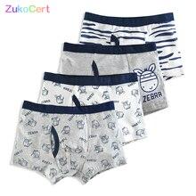 Underwear Boxer Panties Briefs Shorts Boys Teenager Cartoon-Pattern Children's Cotton