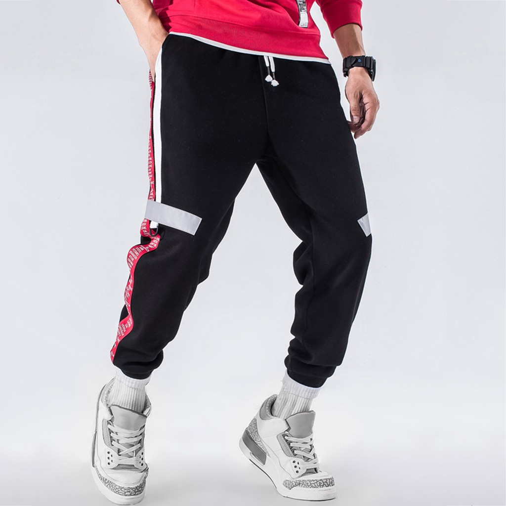 Men Trousers Pants Sports Casual New-Fashion Straight Bunch Homme Comfortable Outdoors