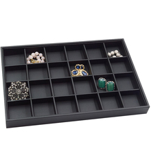 Display Tray PU Leather Bracelet Case Ring Earring Practical Necklace Without Lid Storage Home Loose Beads Jewellery Organiser