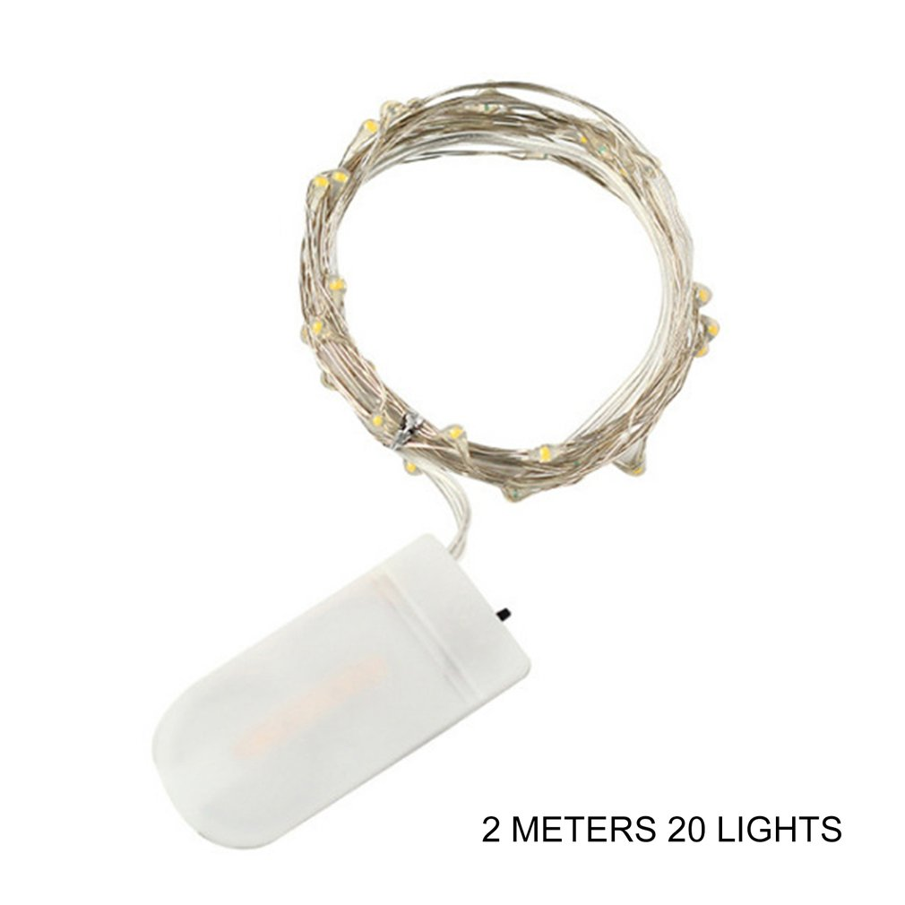 2M Star Lights Light String 20 Led Button Battery Box Copper Wire String Flower Cake Decorative Lanterns Holiday String Lights